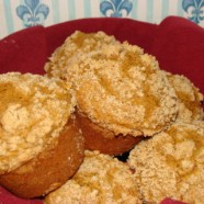 Pumpkin-Crumb Muffins (Whole Wheat) with Cream Cheese Filling – Recipe