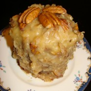German Chocolate Cake (whole wheat) with Coconut Pecan Frosting – Recipe