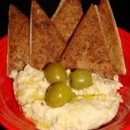 Hummus with Warm Pita Chips – Recipe
