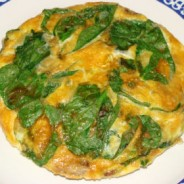 Frittata with Mushroom, Spinach and Gruyere