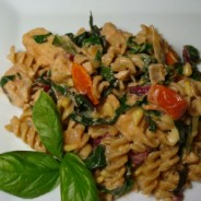 Creamy Chicken Rotini with Swiss Chard