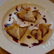 Cherry Cheesecake Wonton Bites