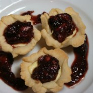 Goat Cheese Tartelettes with Fresh Fig Compote