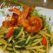 Spicy Cajun Shrimp over Linguini