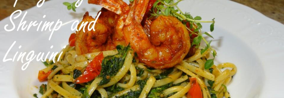 Spicy Cajun Shrimp over Linguini